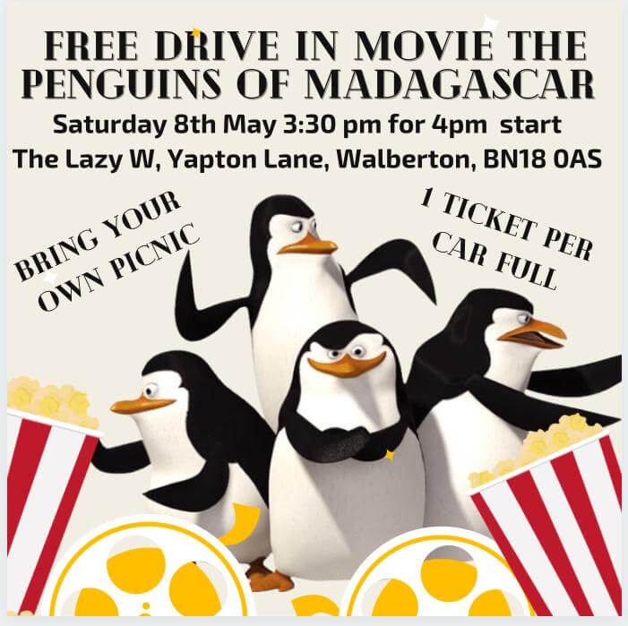 FREE DRIVE IN MOVIE - The Penguins of Madagascar