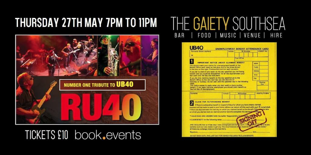 RU40 (UB40 Tribute) Live at the Gaiety Southsea