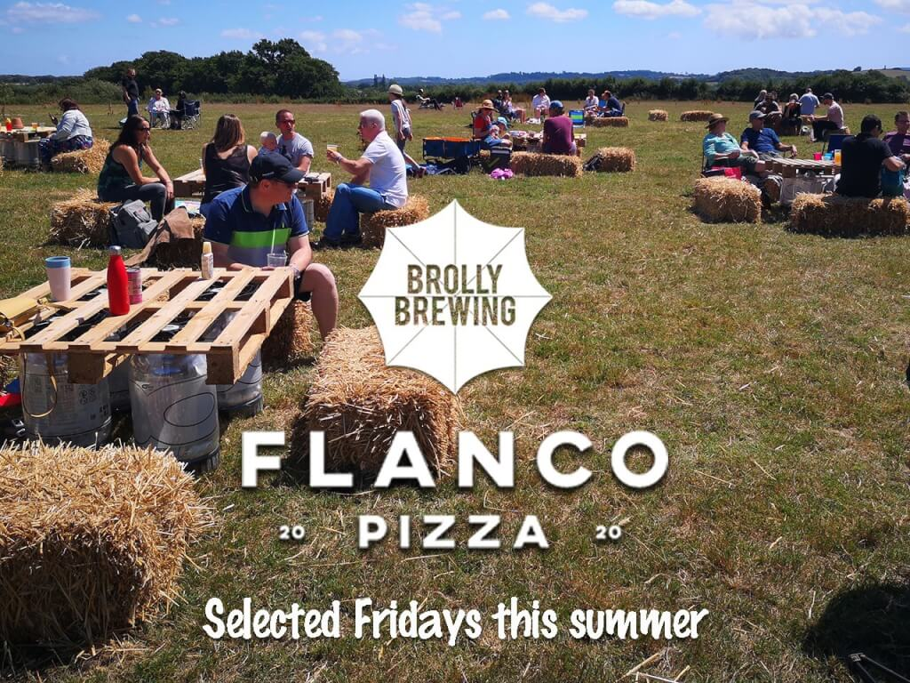 Flanco Pizza at the Brolly Beer Field