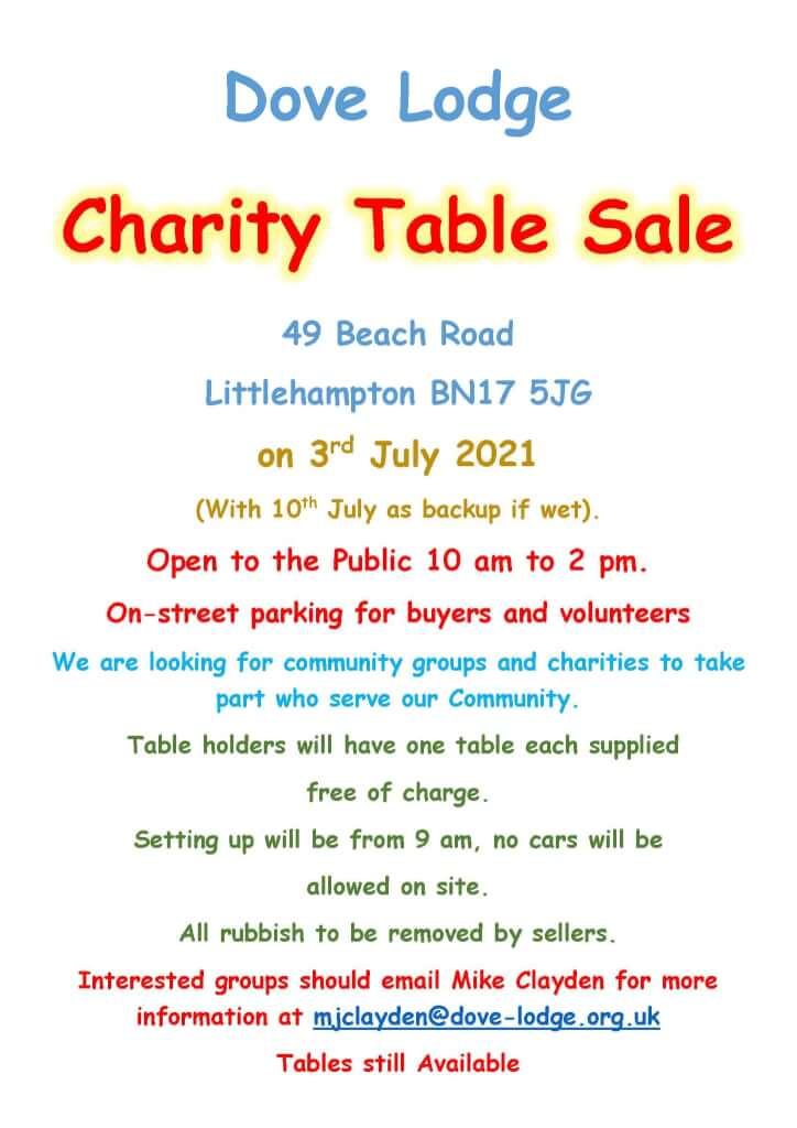 Charity Table Sale