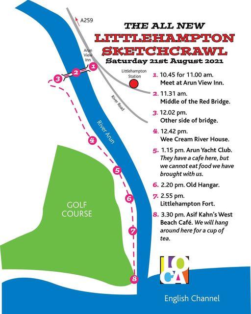 The Littlehampton Sketch Crawl 2021