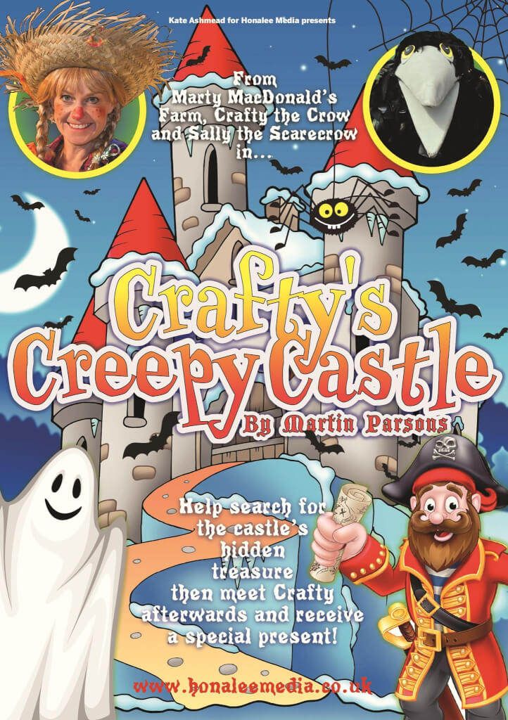 Crafty's Creepy Castle - the show where every child gets a Trick Or Treat present from Crafty Crow!