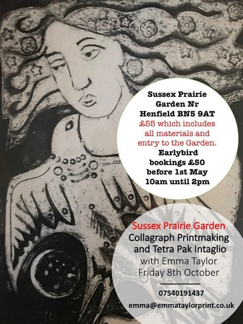 Collagraph Printmaking and Tetra Pak intaglio with Emma Taylor